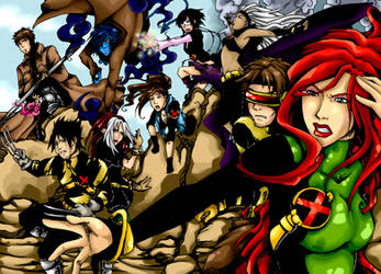 My x-men COLOURED by MMtheMayo