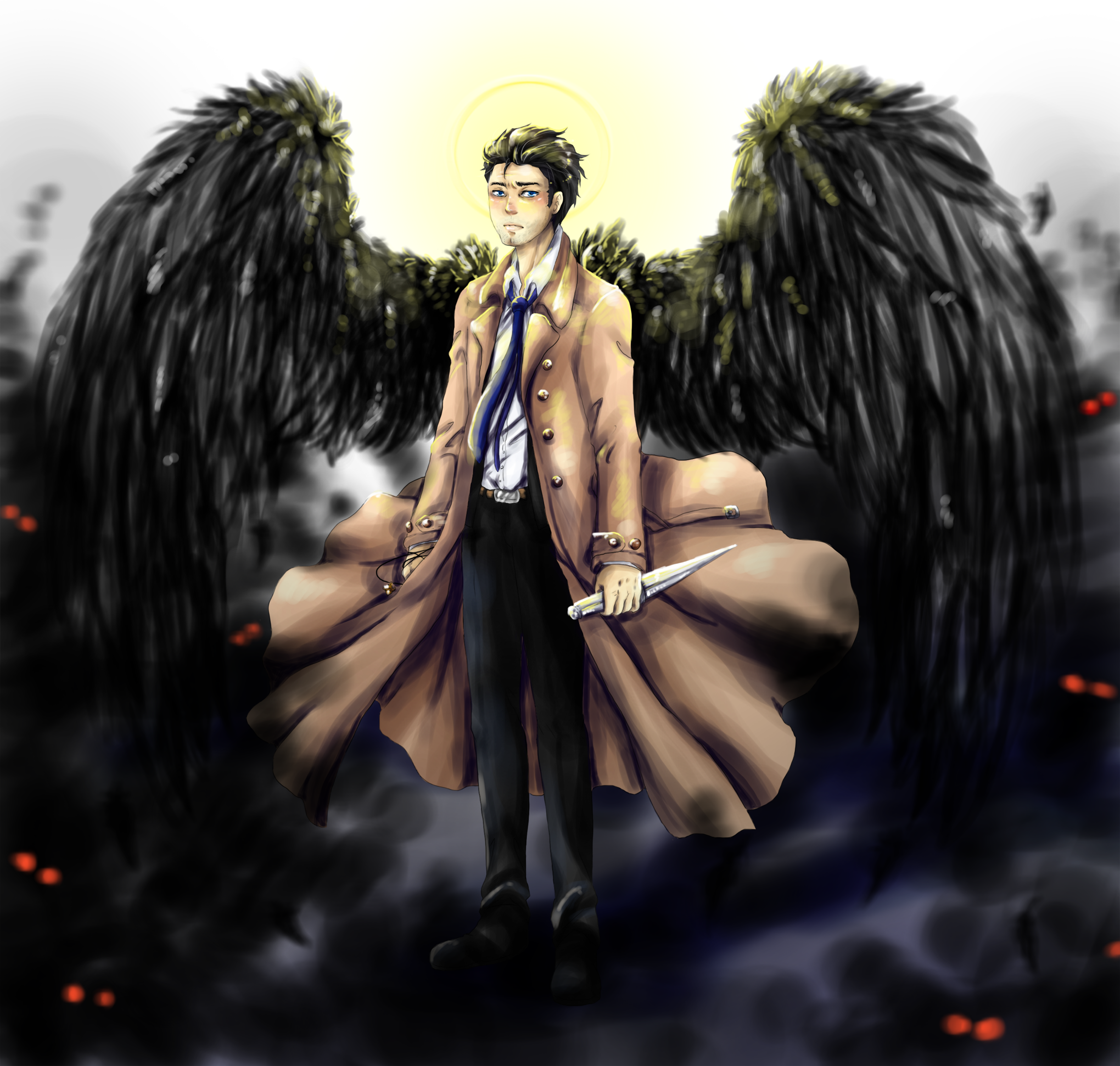 COMM Castiel Supernatural By MMtheMayo