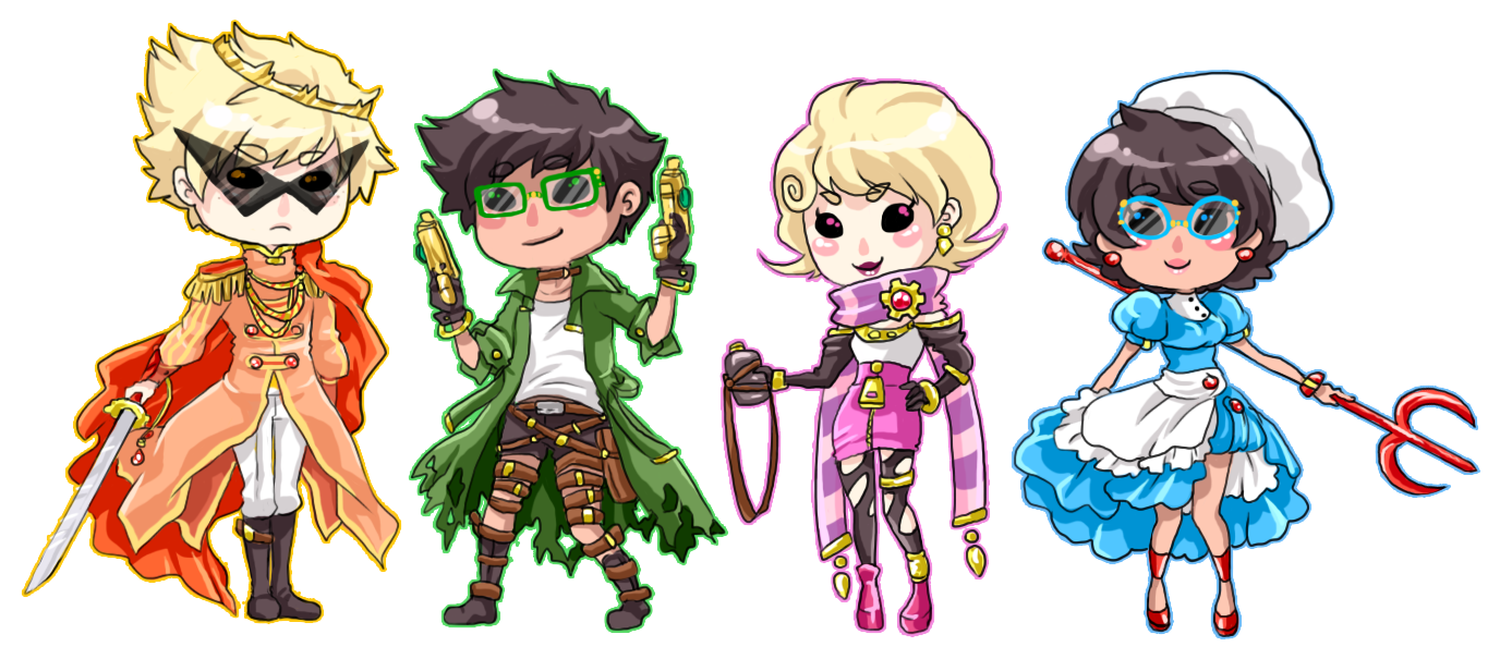 :Fantasystuck: Alpha chibis by MMtheMayo
