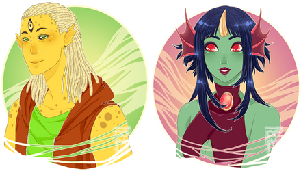 :Comm: Acris and Pristella by MMtheMayo