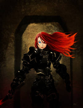 Flame Haired Black Knight