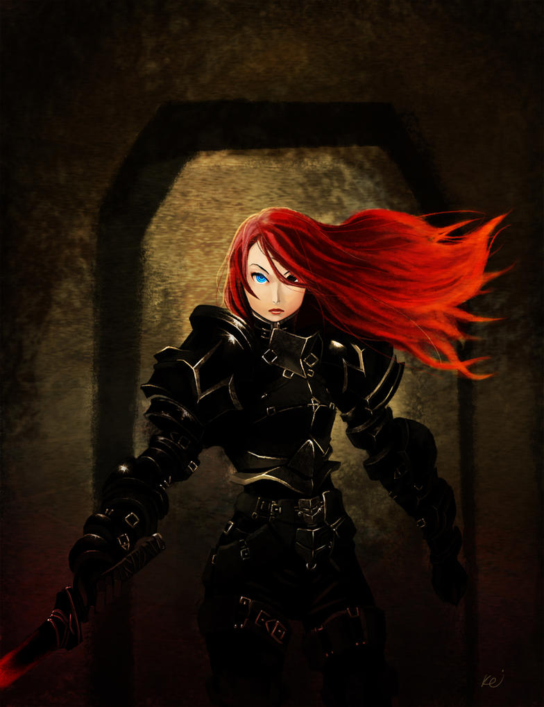 Flame Haired Black Knight by KillerPinkPenguin