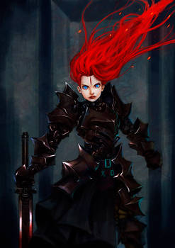 Flame Haired Black Knight 2