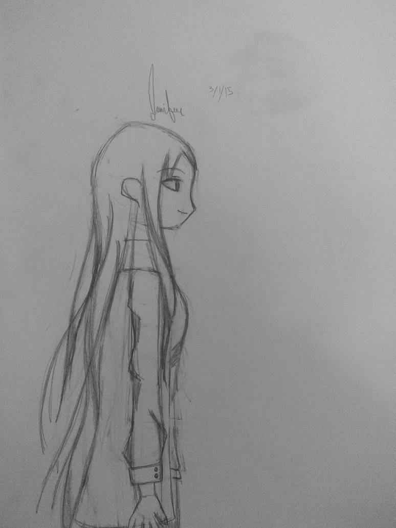 Anime girl side view by cats531
