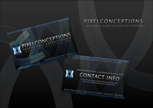 PixelConceptions Business Card