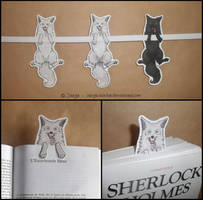 Wolf Bookmark by sarya-atelier