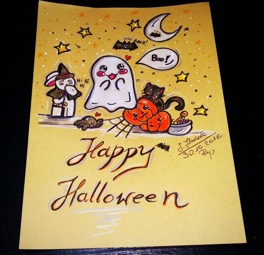 Happy Halloween ! by Hellocat22