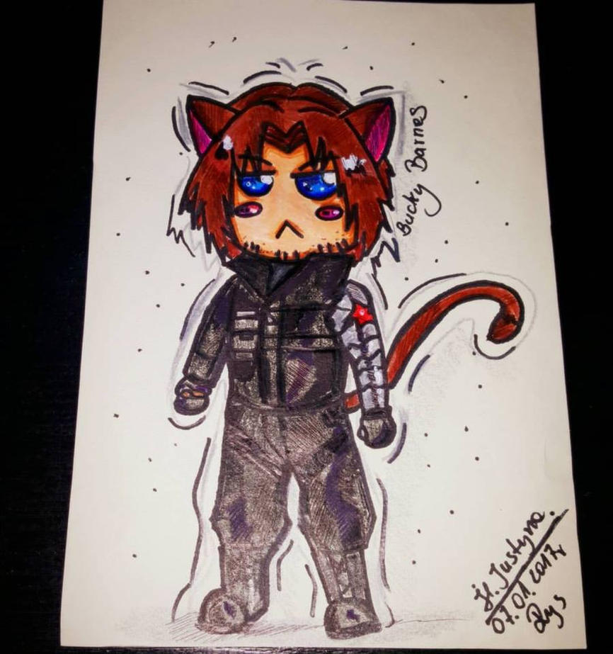 Bucky Barnes by Hellocat22