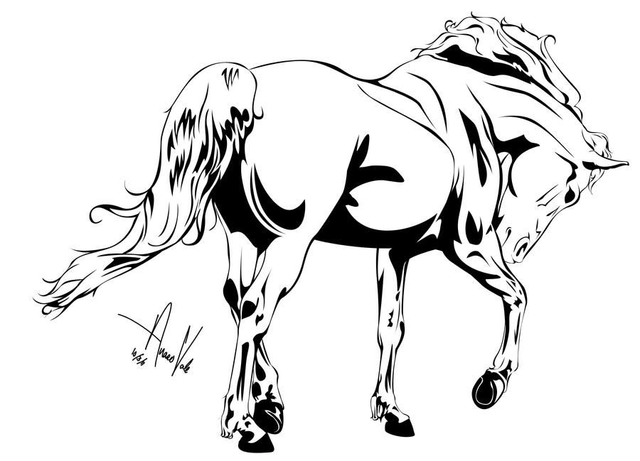 Horse Outline -- One by Anaeo-vale on DeviantArt - photo#19