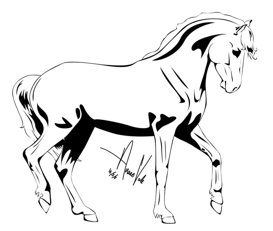 Horse Outline -- Four by Anaeo-vale on DeviantArt - photo#8