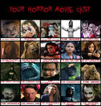 My Harley Quinn Horror Movie Cast. by creepypastajack