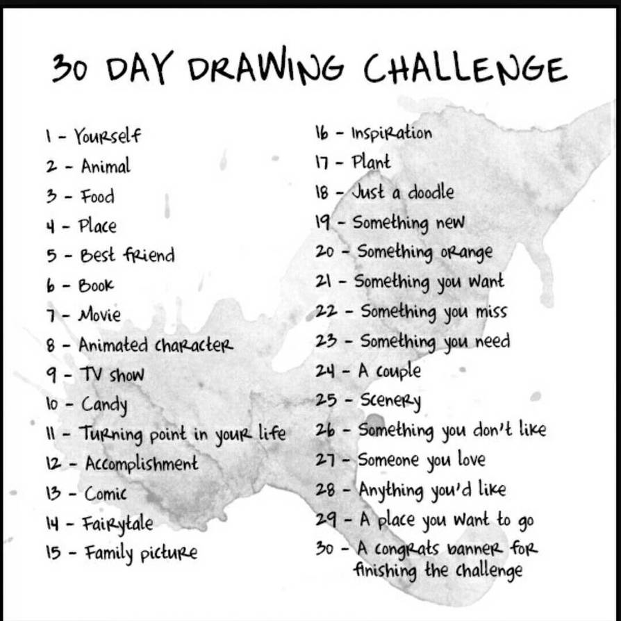 30 Day Drawing Challenge By Fanastycat On Deviantart