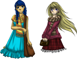 [COLLAB] two random girls