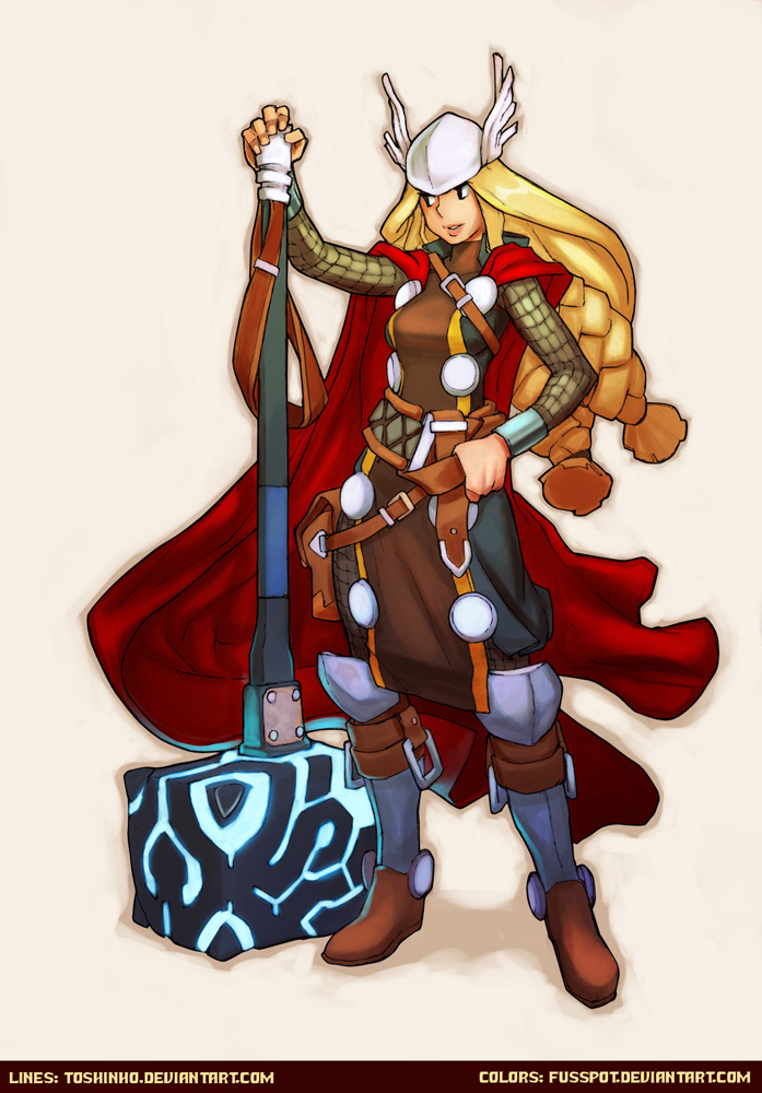 Toshinho's Lady Thor by fusspot