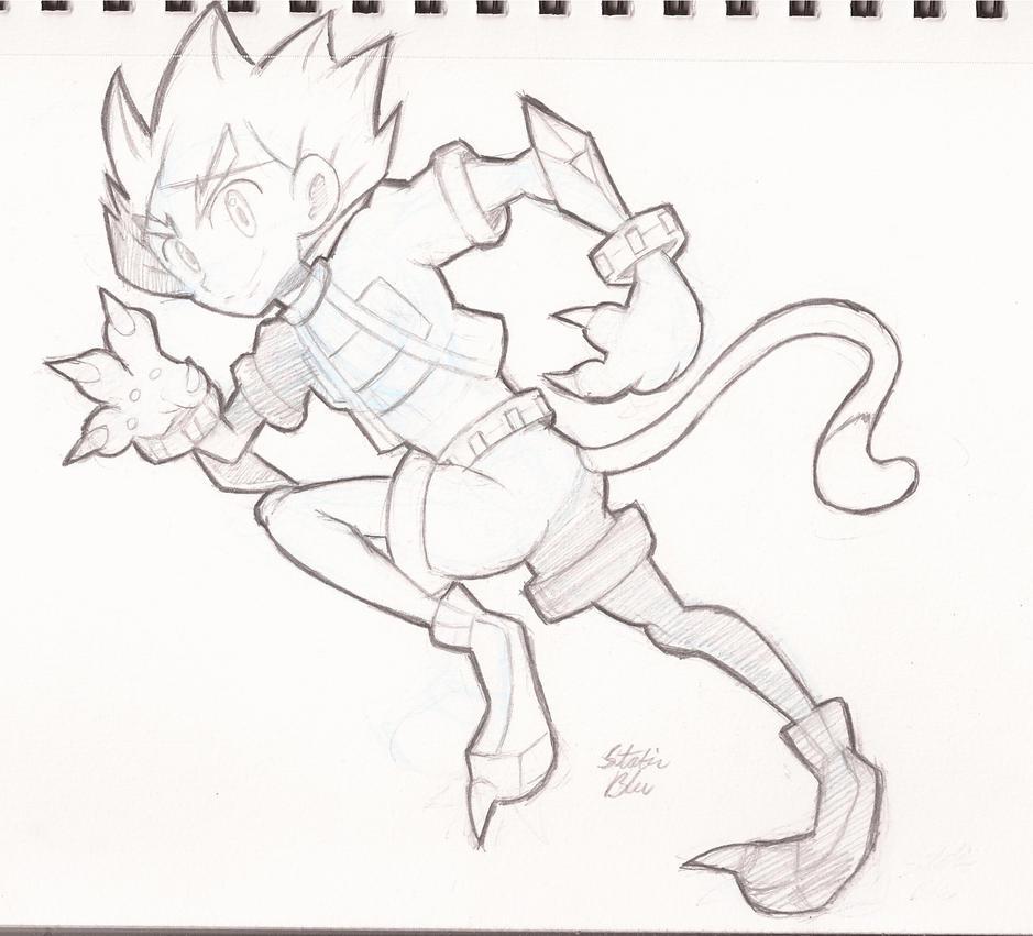 Sketchin' Around - Cat Guy by StaticBlu
