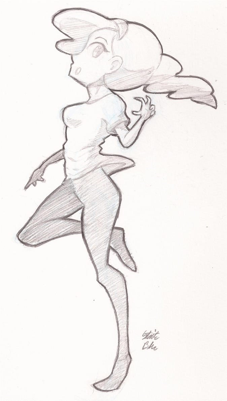 Sketchin' Around - Girl Standing Around by StaticBlu