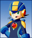 Megaman.EXE Card by StaticBlu