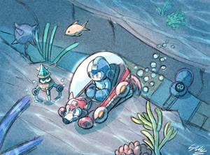 Megaman Underwater Stage Doodle