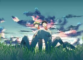 Tajima and Mihashi by tawashitobitamaru