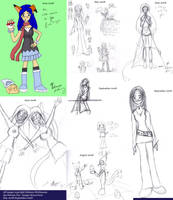 Summer Sketches 2008 by Kitsune-Fox17