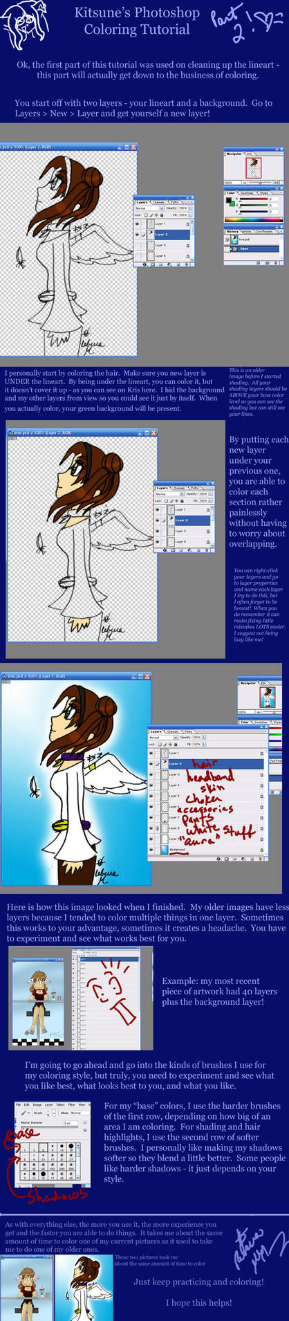 Photoshop Coloring Tutorial 2 by Kitsune-Fox17