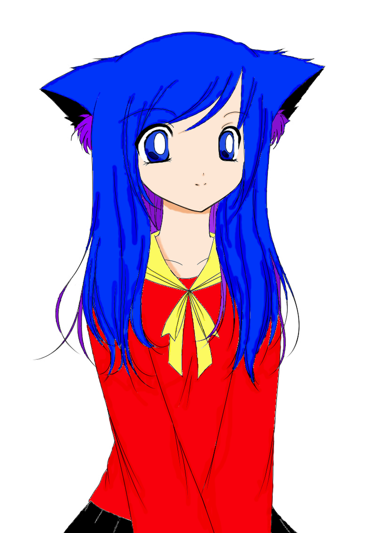 Cat Girl by ~strawberrycake COLORED by UltraWaffles