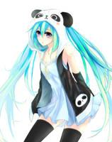 Panda Miku by jyzx