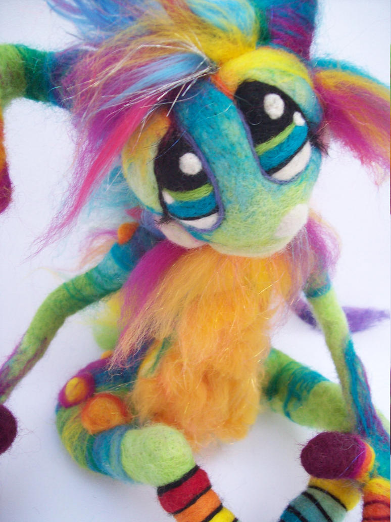 Magic Rainbow Pinwheel Goblin by Tanglewood-Thicket