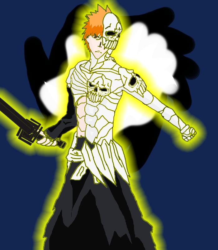 skull clad ichigo by nayfus on deviantart