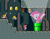 Mario meet's Pinkie Pie (pixel edition) by nick3529