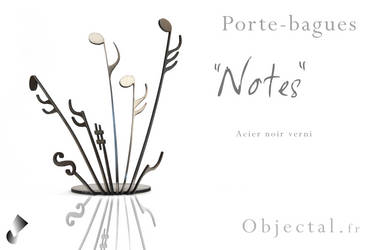 [Objectal.fr] Porte bagues '' Notes '' Acier Noir by Objectal