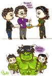 Bruce Tony and Loki