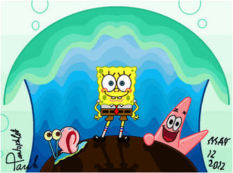 Spongebob First Pic [remastered] by TaRtOoN-Man94