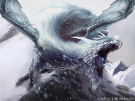Ice Dragon by DavidAlvarezArt