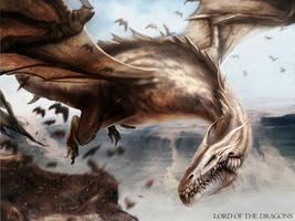 White Dragon by DavidAlvarezArt