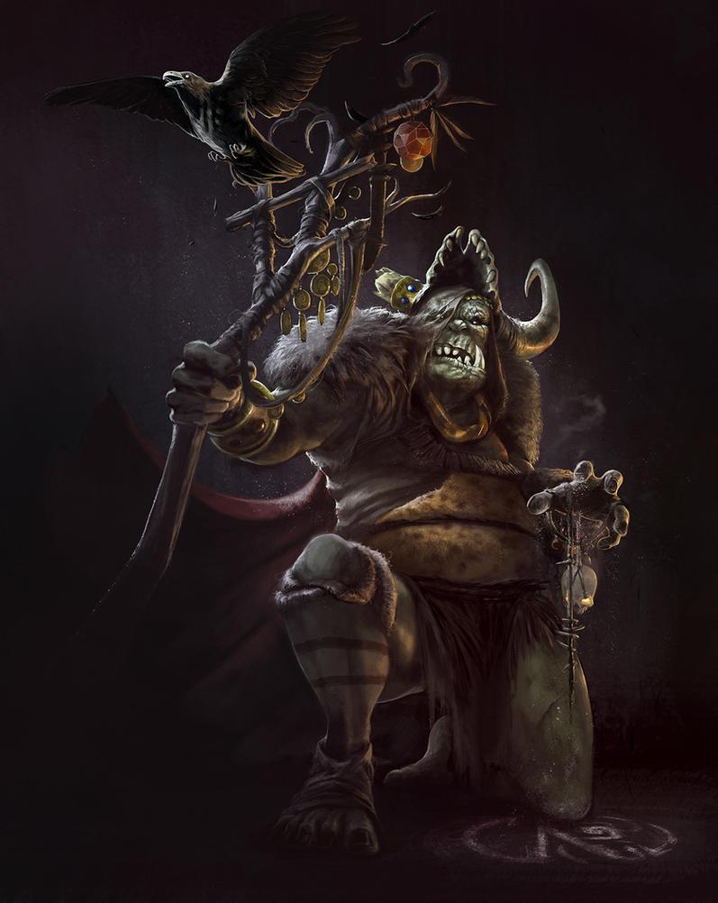 Orc Shaman by DavidAlvarezArt