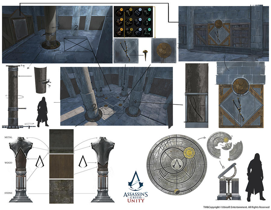 Assassin's Creed Unity /// Treasure room props by Rez-art
