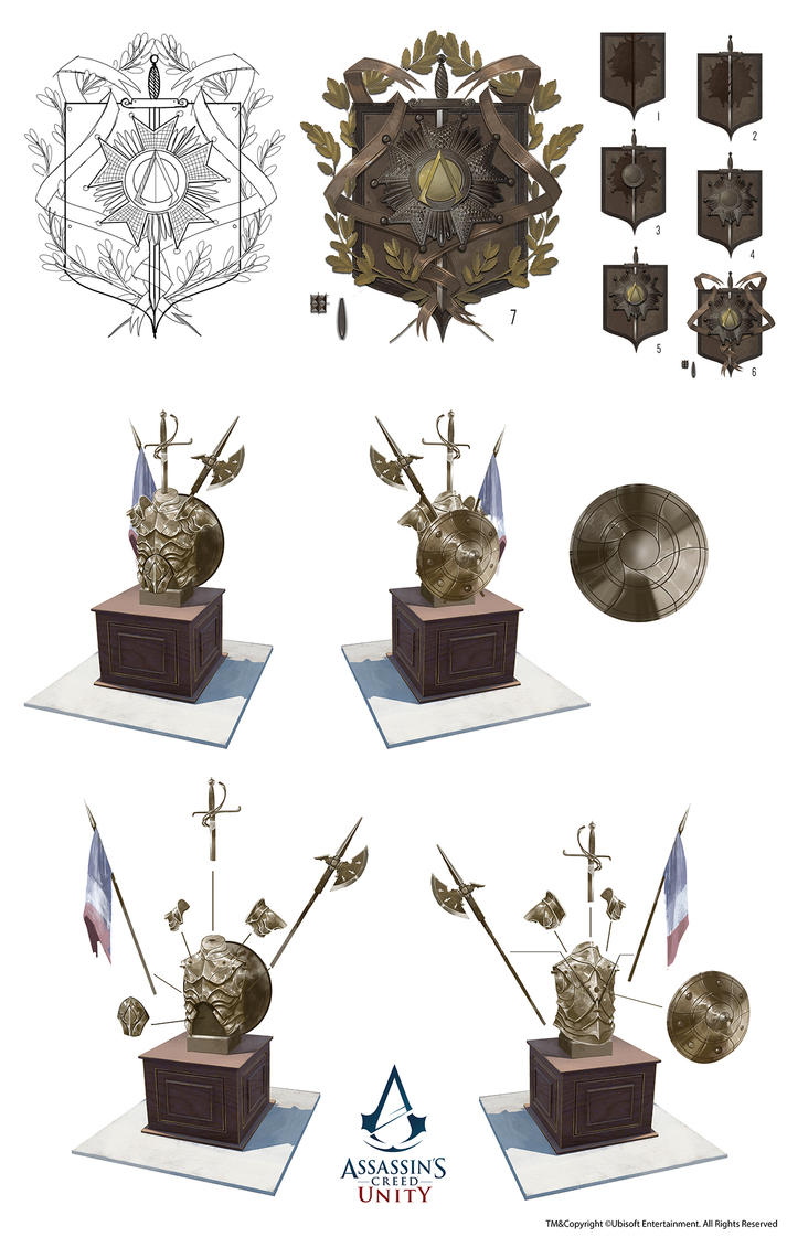 Assassin's Creed Unity /// Trophy room props by Rez-art