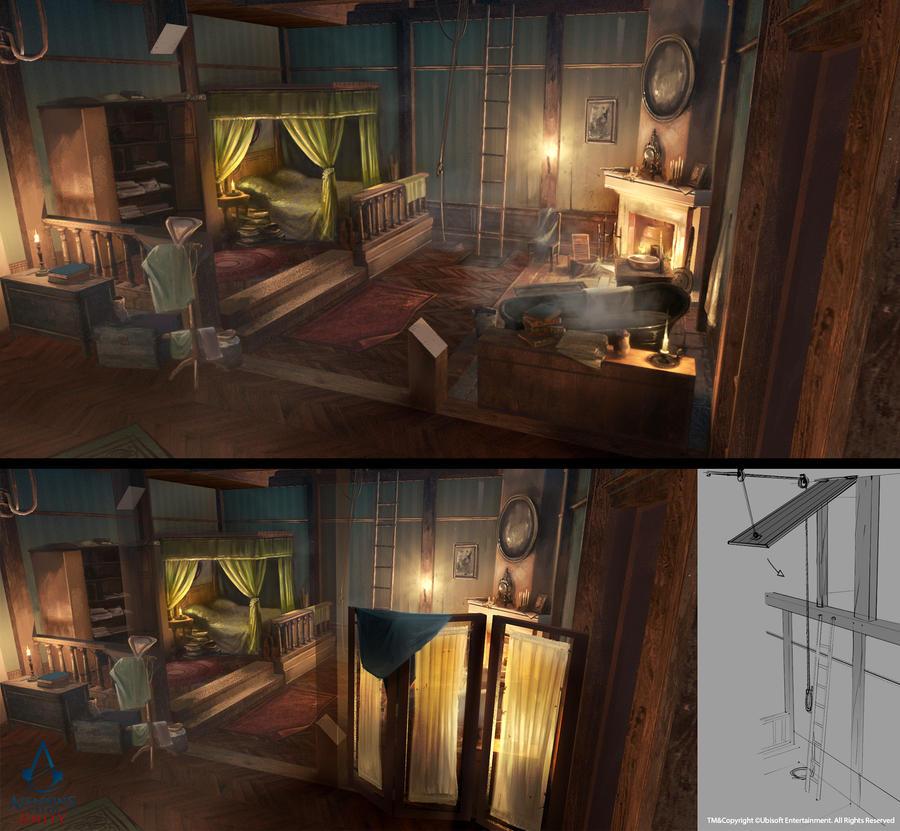 Assassin's Creed Unity /// Arno's room by Rez-art