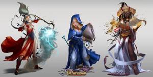 Pathfinder Roleplaying Game: Unchained /// Women by DavidAlvarezArt