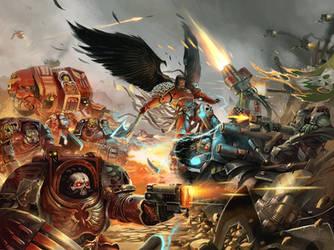 Astorath VS Ghazghkull /// Warhammer fan art by DavidAlvarezArt