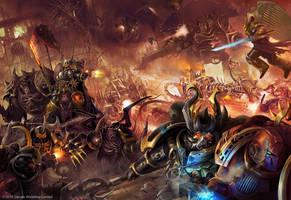 Warhammer /// Black Crusade Traitor's hate codex by DavidAlvarezArt