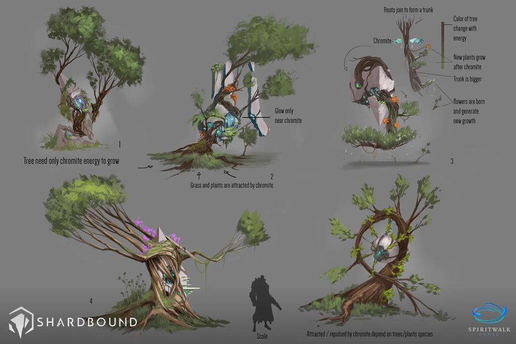 Corrupted Trees VisDev 01 - Shardbound by DavidAlvarezArt