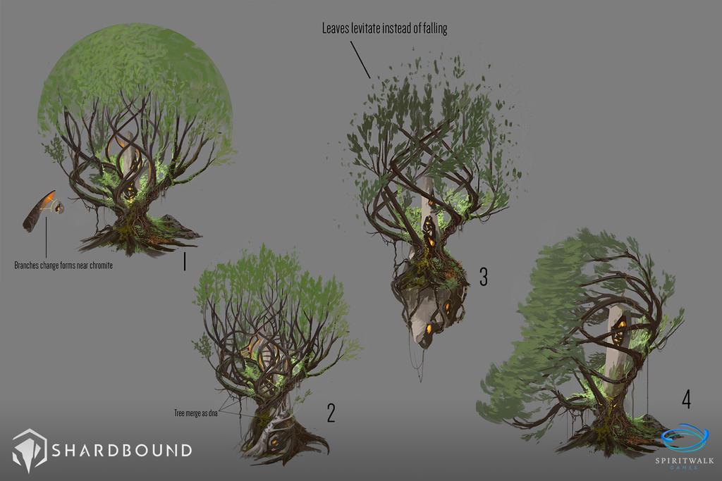 Corrupted Trees VisDev 02 - Shardbound by DavidAlvarezArt