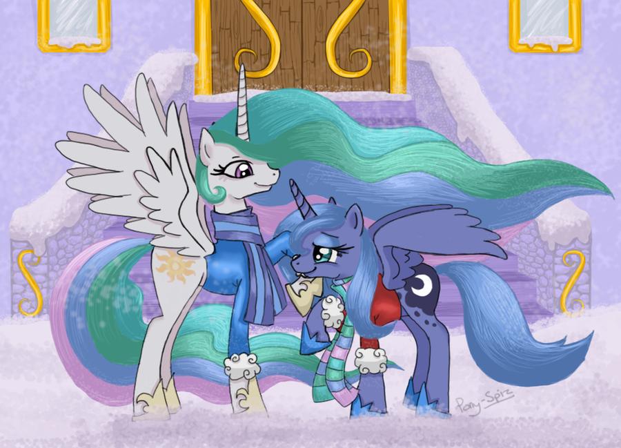 Celestia and Luna Wrap Up V.2 by Pony-Spiz