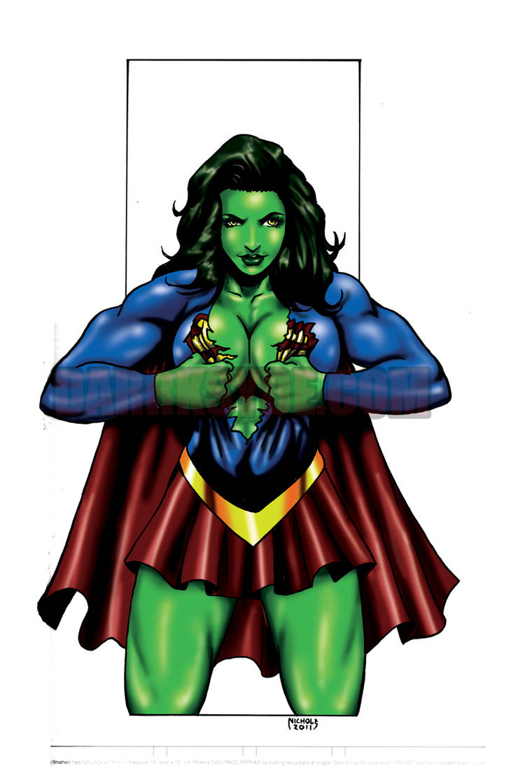 She Hulk Girl Of Steel By Dwid On Deviantart