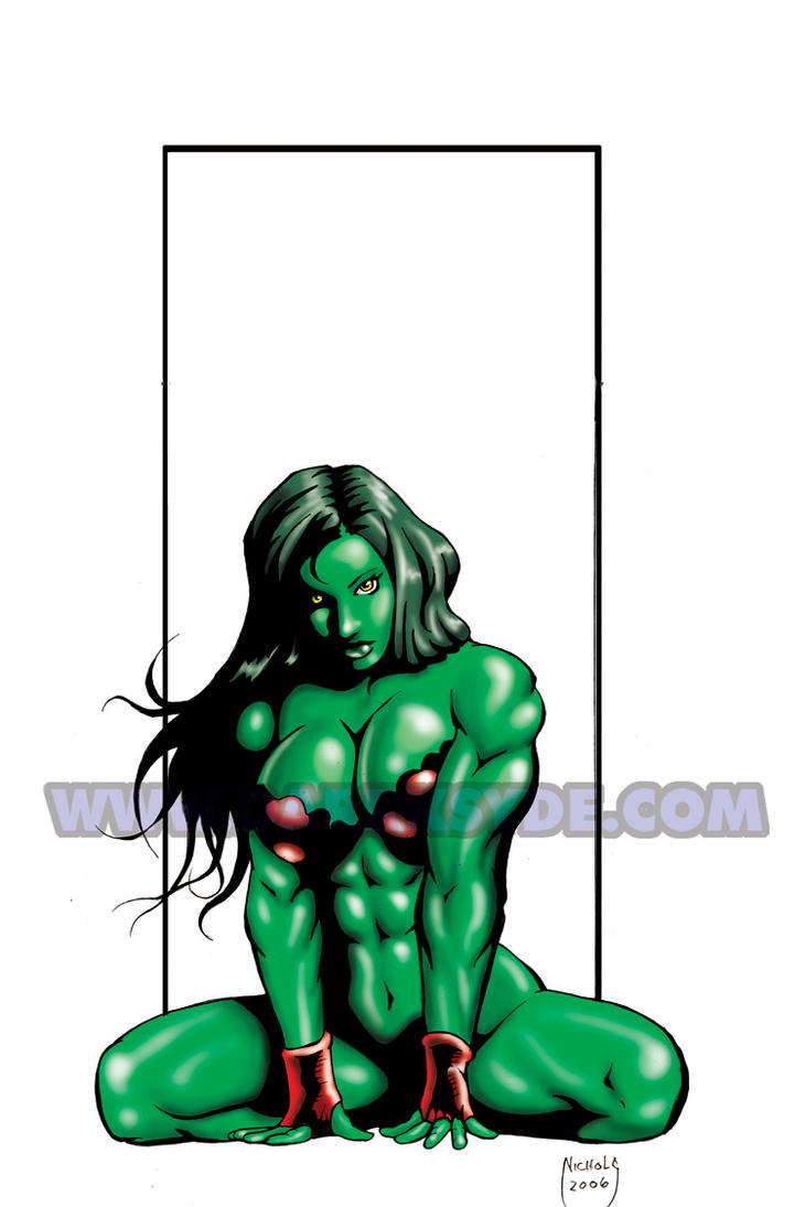 SHE-HULK CRIMSON OUTFIT by Dwid