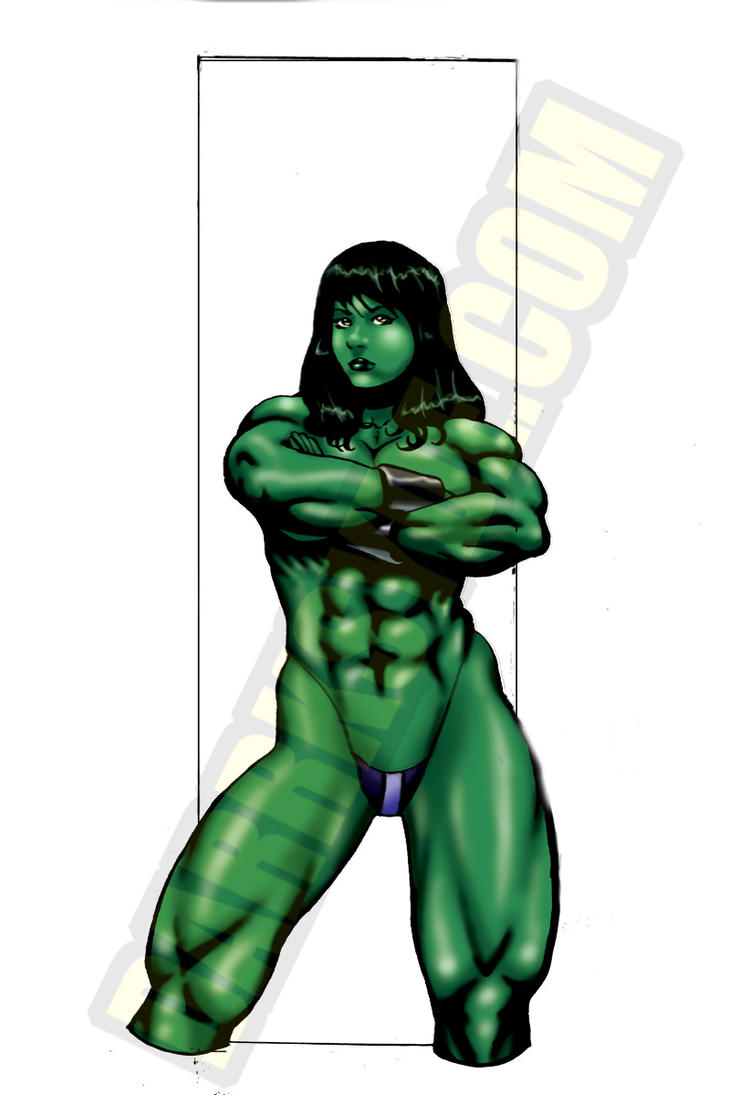 Hulk Transformation 2008 She-hulk powerstance by dwid