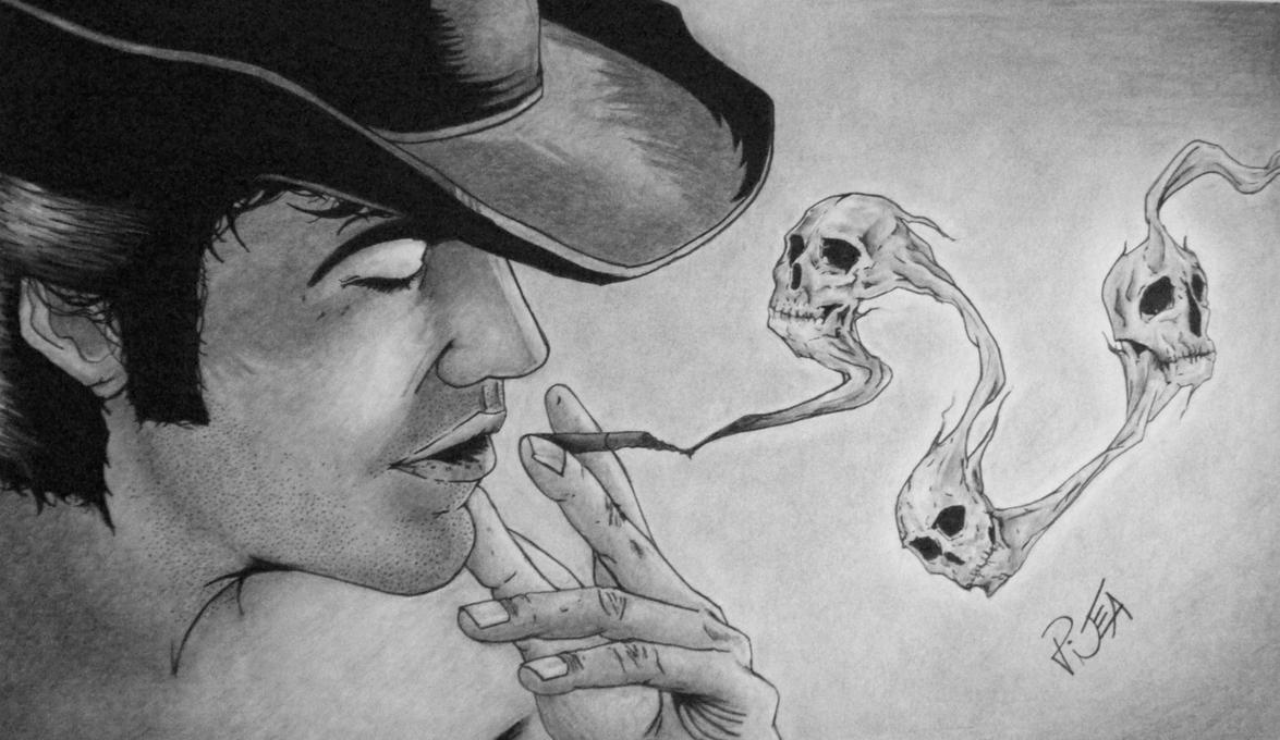 Skull Smoking Weed Drawing Skull Drawings With Smoke