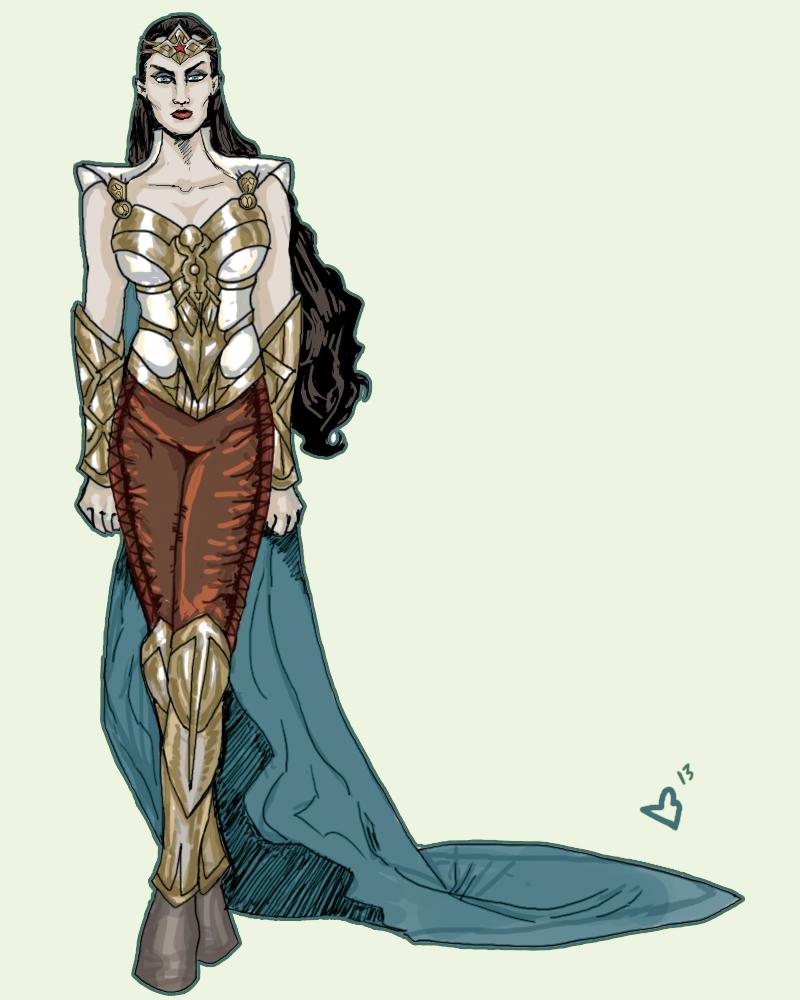 Wonder Woman Redesign by bloogun